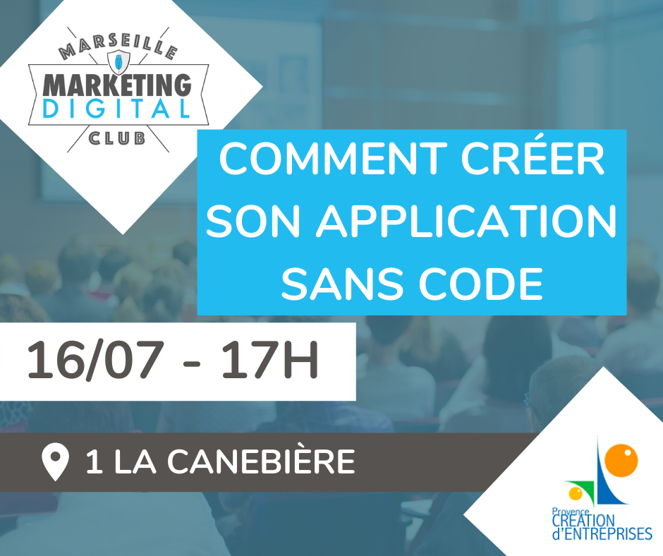 Atelier Comment créer son application sans code